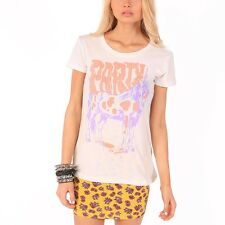 IRON FIST LADIES WHITE PARTICORN T SHIRT / TEE / TOP ALL SIZES     (B6C)