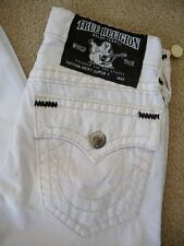 NWT True religion mens Ricky contrast black Super T Jeans in Optic White