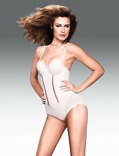 FLEXEES EASY-UP STRAPLESS BODY BRIEFER #1256 BEIGE NWT