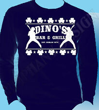 Thin Lizzy Inspired Mens T-Shirt Long Sleeve Dino's Bar And Grill Phil Lynott