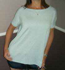 Sexy PIKO Dolman Wide Open Boat Neck Dolman Sleeve Tunic Top Shirt Mint S/M/L