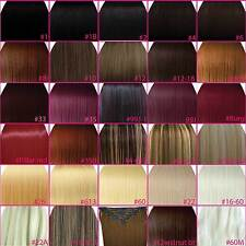 "FULL HEAD 15"" 18"" 20"" 22"" 24"" Clip In Hair Extensions STRAIGHT ANY COLOUR / SIZE"