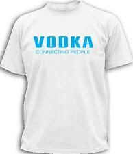 VODKA CONNECTING PEOPLE CLASSIC RETRO MOBILE PHONE FUN FUNNY NEW MEN T-SHIRT TOP