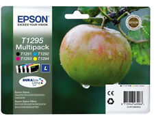4 Epson T1295 Genuine Printer Ink Cartridges MultiPack