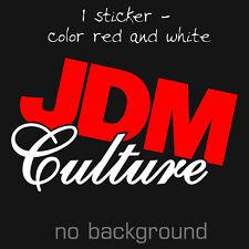 JDM CULTURE Decal Vynil Sticker - Euro Drift Lowered illest Fatlace Hella Stance
