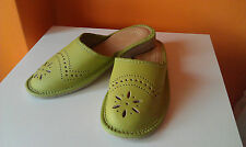 WOMEN'S SLIPPERS LADIES SLIPPERS FOR GIRL NATURAL LEATHER mules H-Q hand made