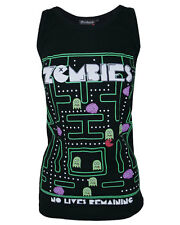 Darkside No Lives Remaining Zombie Pacman Ghost Retro Gamer Beater Vest Top