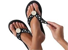 New Lindsay Phillips Switchflops, Lulu, Black flip flop, NWB, interchangeable