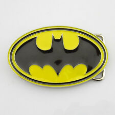 New Costume Western  Batman Superhero Mens Metal Belt Buckle Leather