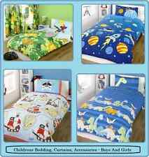 Children's Bedding, Curtains, Lamps, Stickers - Boys And Girls Matching Designs
