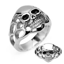 PRICE REDUCED! Skull w Side Flames 316 L Steel Ring Sizes 8.75 -14 Available
