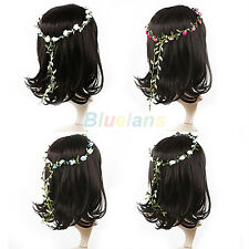 Boho Lady Girl Flower Floral Hoop Festival Wedding Garland Headband Hair Wreaths