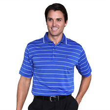 Monterey Club Mens Dry Swing 2 tone Texture Stripe Golf Polo Shirt #1077