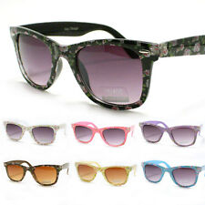 FLORAL Womens Classic Sunglasses Colorful Flower Print Frame New