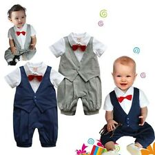 Baby Boy Twins Wedding Special #A Occasion Christening Tuxedo Suit Outfit(0-18M)