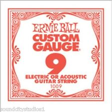 Ernie Ball Plain Steel Electric or Acoustic Single Guitar Strings 5 Pack