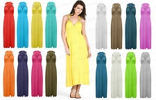 Ladies Long Stretch Womens Maxi Dress Coil Spring One Size Womens Sleeveless