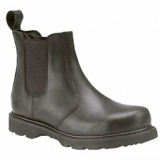 Grafters Mens Womens Ladies Leather Goodyear Welted Safety Chelsea Boots Black