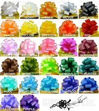 """10 PULL BOWS PER COLOR 5"""" BASKET PARTY BALLOON GIFT DECORATIONS WEDDING PEW CAKE"""