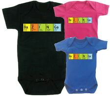 Big Bang Theory Periodic Table Babies Vest Babygrow Baby Clothing Funny the CUTE