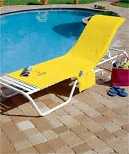BRIGHTLY COLORED BEACH POOL DECK LOUNGE CHAIR COVER W/POCKET CONVERTS TO TOTE