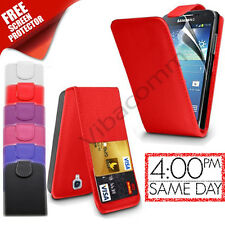 SAMSUNG GALAXY S4 MINI I9190 LEATHER FLIP TOP CASE COVER + FREE SCREEN PROTECTOR