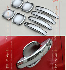 FOR 05~10 FORD FOCUS MK2 DOOR HANDLE BOWL CHROME COVER MOLDING TRIM 2007 2008
