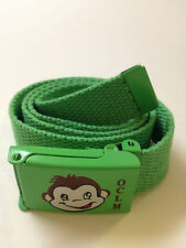 Childrens Web Belt with Green OCLM Buckle, Kids,Toddler Belt for Boys and Girls