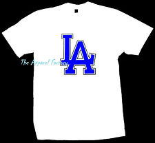 Brand New LA White T Shirt Los Angeles Dodgers Cali