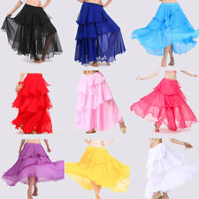 3 layers circle Elegant Charming Belly Dance Costumes Spiral Skirt 9 Color chose
