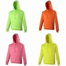 Awdis Unisex Vibrant Electric Hooded Sweatshirt Hoodie 4 Colours