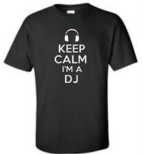 Keep Calm I'm A DJ T-Shirt Headphones Music Event Mens Tee