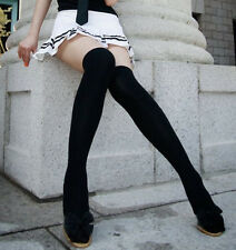 Fashion Cotton Over The Knee Socks Thigh High Stockings Thinner