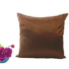 Stiff Root Beer Faux Dupioni Silk Taffeta Cushion Cover Case Any Size #stfcc-81