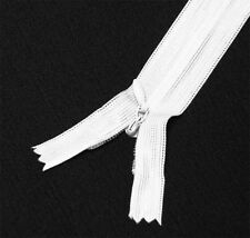 "Wholesale 1-1000 Zippers 16""/40cm Bleach White Closed End Invisible/ hidden zip"