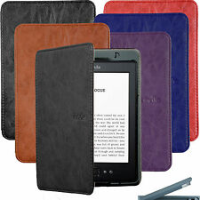 "BUILT IN LED LIGHT ULTRA SLIM LEATHER CASE COVER FOR KINDLE 4 / 5 gen 6"" WiF 3G"