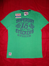 Re-Issue SUPERDRY Green 15 STOCKERS Mens XXL ( Extra Extra Large ) 2XL T-Shirt
