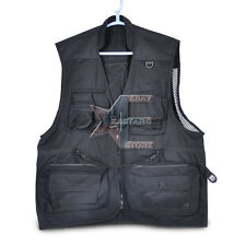 New photographer photo vest black 6 sizes for Nikon Canon Sony