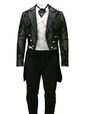 Milanoo hot sale Fashion Full Length Steampunk Swallowtail Costume for Men
