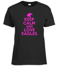 Keep Calm And Love Eagles Womens T-Shirt Funny Eagle Ladies Tee