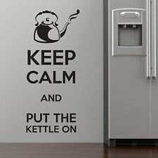 KEEP CALM AND, LARGE WALL STICKER, Kitchen, Decal, SS847