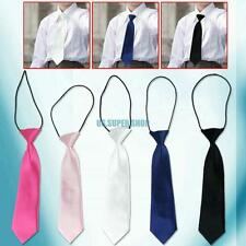 5 Colors Child Kids School Boy Elastic Necktie Wedding Tie