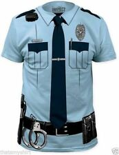 T-Shirts Sizes S-2XL New Cool Johnny Law Police Officer Mens Costume Tee Shirt