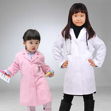 Kids Children REAL LAB COAT Boys Girls Hospital Doctor Nurse Scientist Costume