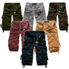 NEW MENS SIZE 28,29,30,31,32,33,34,35,36 ARMY MILITARY CARGO CASUAL SHORTS PANTS