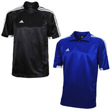 NEW ADIDAS EU CLUB MENS BASKETBALL BLACK BLUE TRAINING TEE SHIRTS UK SIZE