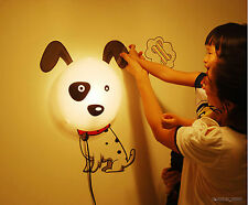 Pink Dog DIY 3D Wallpaper Living/Bed Room Wall Sticker Decal Night Light Lamp