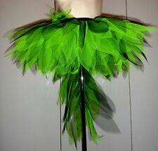 Carnival/Hen Party Tutu with Fun Tail. Red & Black, Lime Green & Black. S/M/L