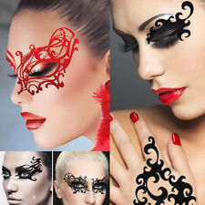 Steampunk Red/White/Black Mask Victorian Lace Costume Halloween Reusable Makeup