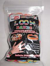 """As Seen On Youtube"" Loom Bandz Refill Pack 600 Bands & 25 Clips & Loom Tool!!"